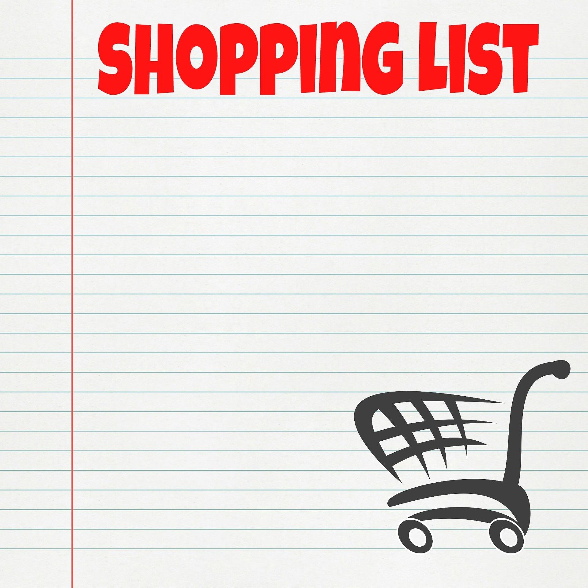Create A Shopping List In Advance